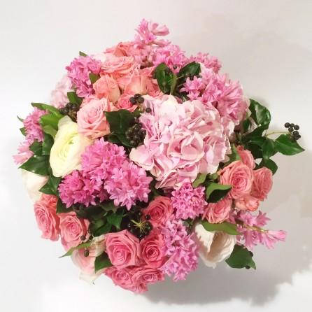 Création Bouquet sur mesure «Bonheur» par Christian Morel Fleuriste à Paris