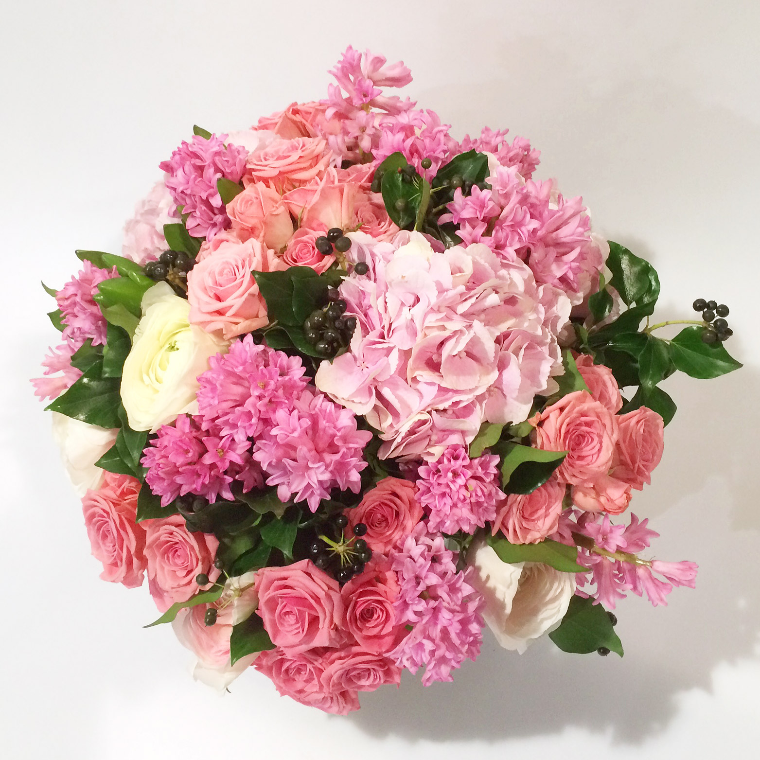 """Création Bouquet sur mesure """"Bonheur"""" par Christian Morel Fleuriste à Paris"""