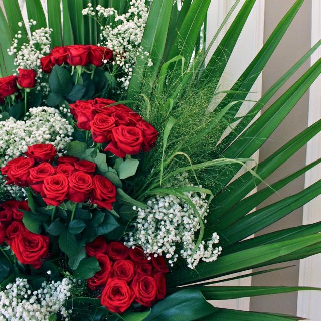 Christian Morel Fleuriste Paris - Evenement Composition roses rouges
