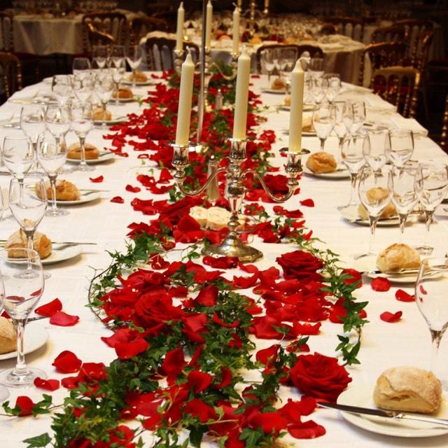 Christian Morel Fleuriste Paris - Evenement Chemin de table
