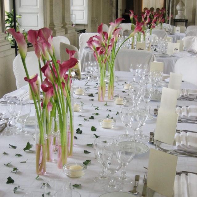 Christian Morel Fleuriste Paris - Mariage - Table de mariée Arum