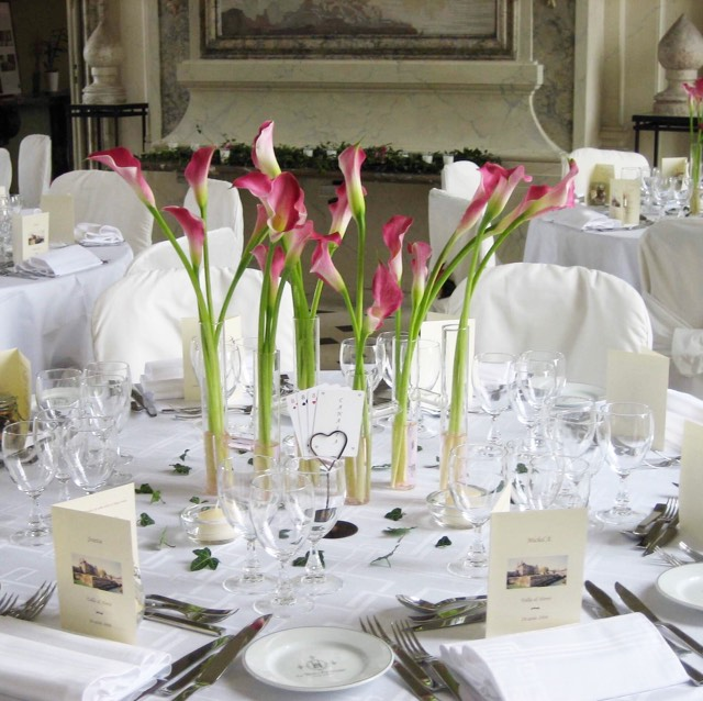 Christian Morel Fleuriste Paris - Mariage - Table de mariage arum