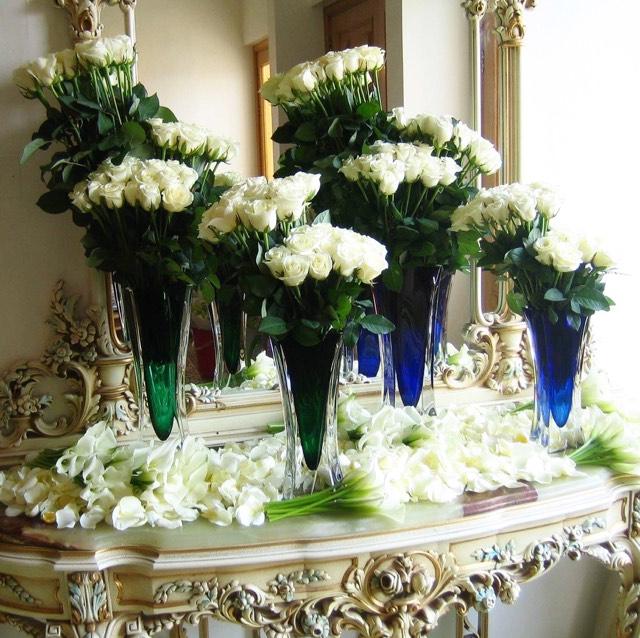 Christian Morel Fleuriste Paris - Evenement Roses blanches