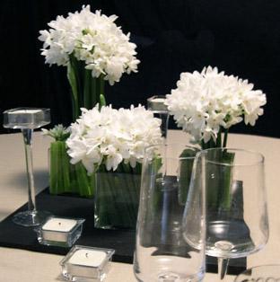 Christian Morel Fleuriste Paris - Evenement centre de table narcisse