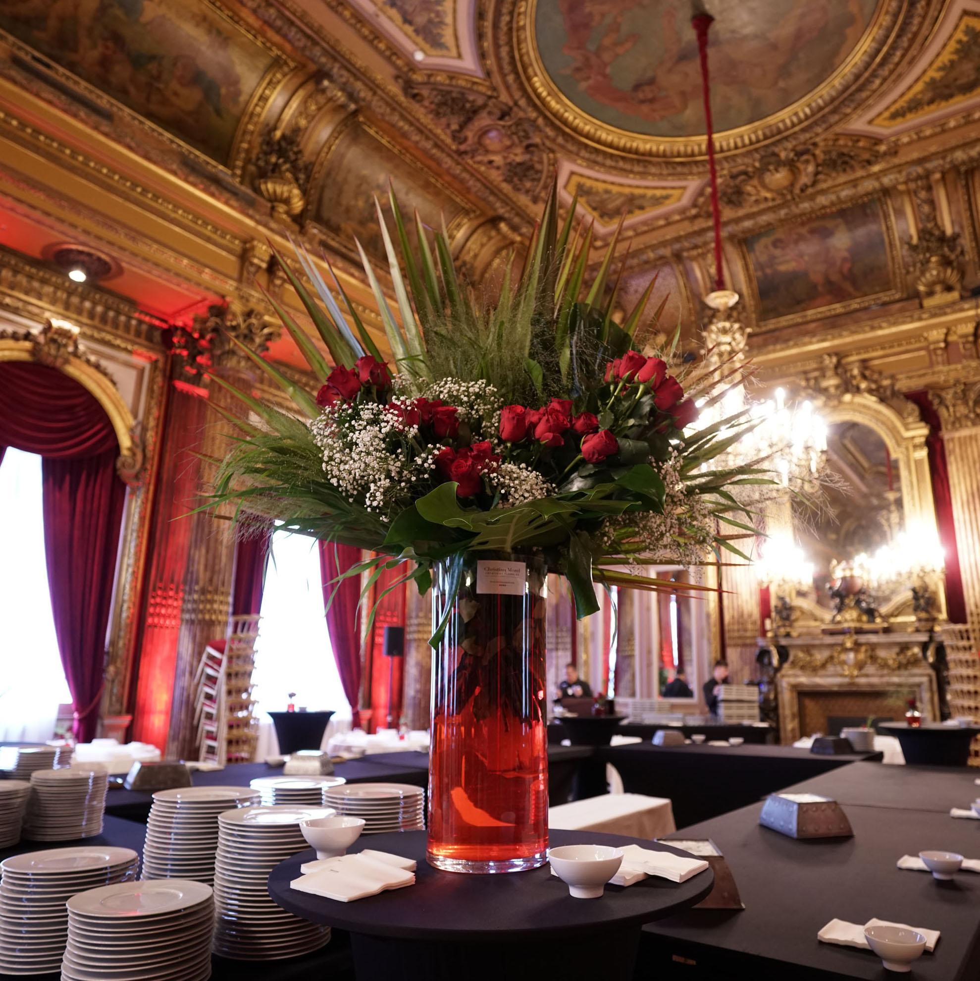 Christian Morel Fleuriste Paris - Evenement Composition rouge