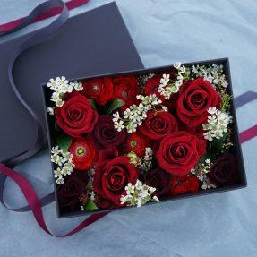Christian Morel Fleuriste - Boite à fleurs saint valentin