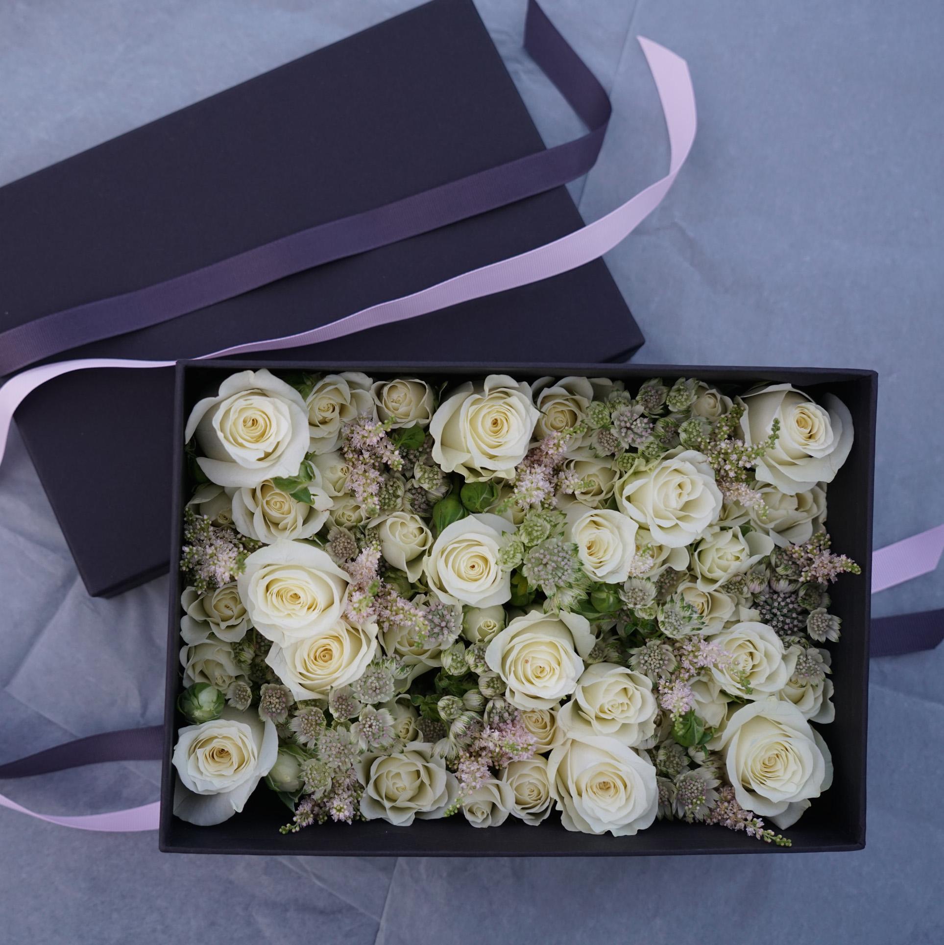 Christian Morel Fleuriste Paris - Boite à fleurs saint valentin