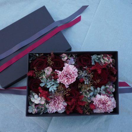 Christian Morel Fleuriste Paris- Boite à fleurs  – Saint valentin