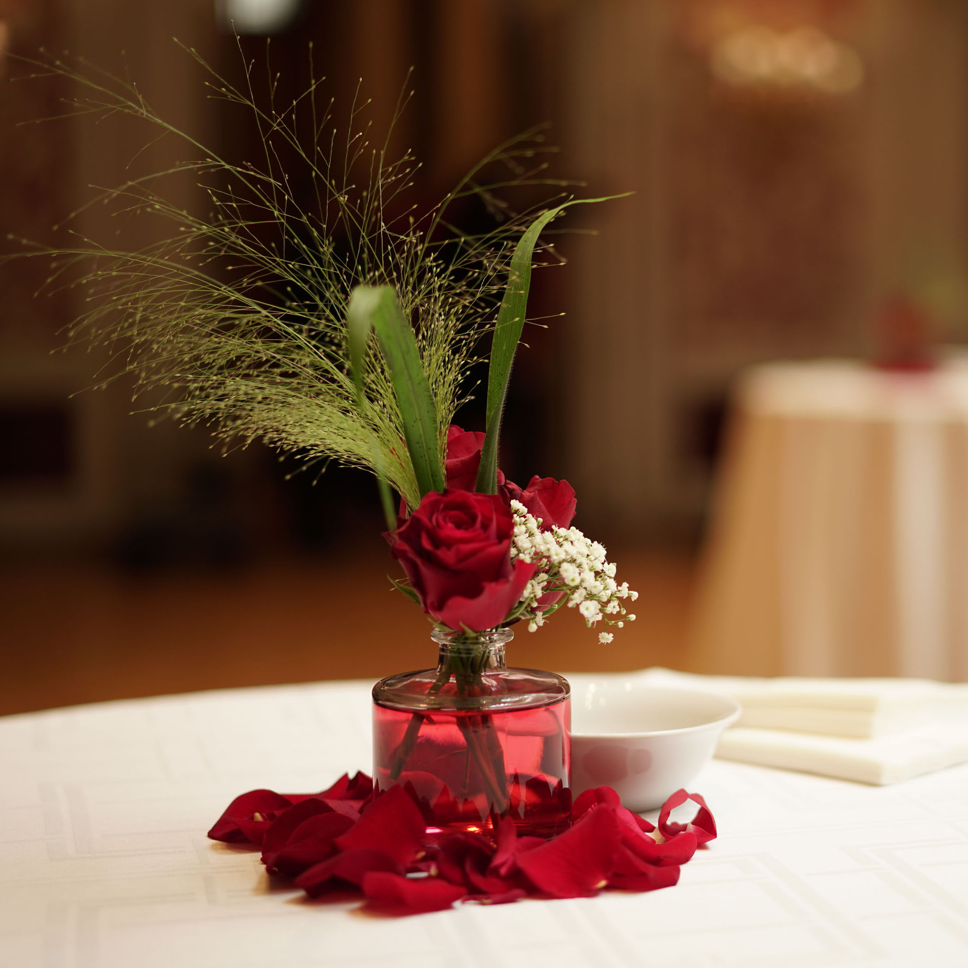 Christian Morel Fleuriste Paris - Mariage - roses rouges