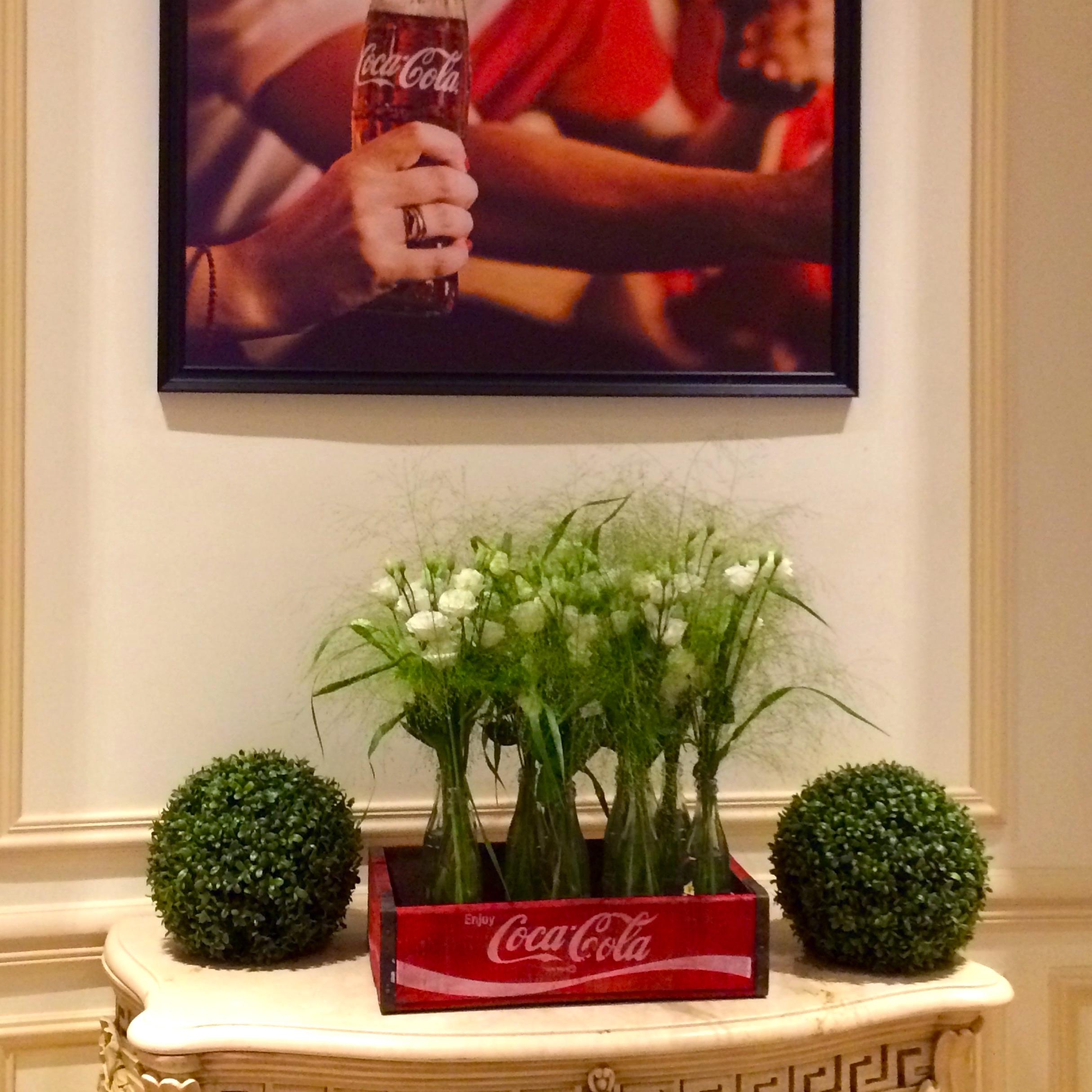 Christian Morel Fleuriste Paris - Evenement coca cola