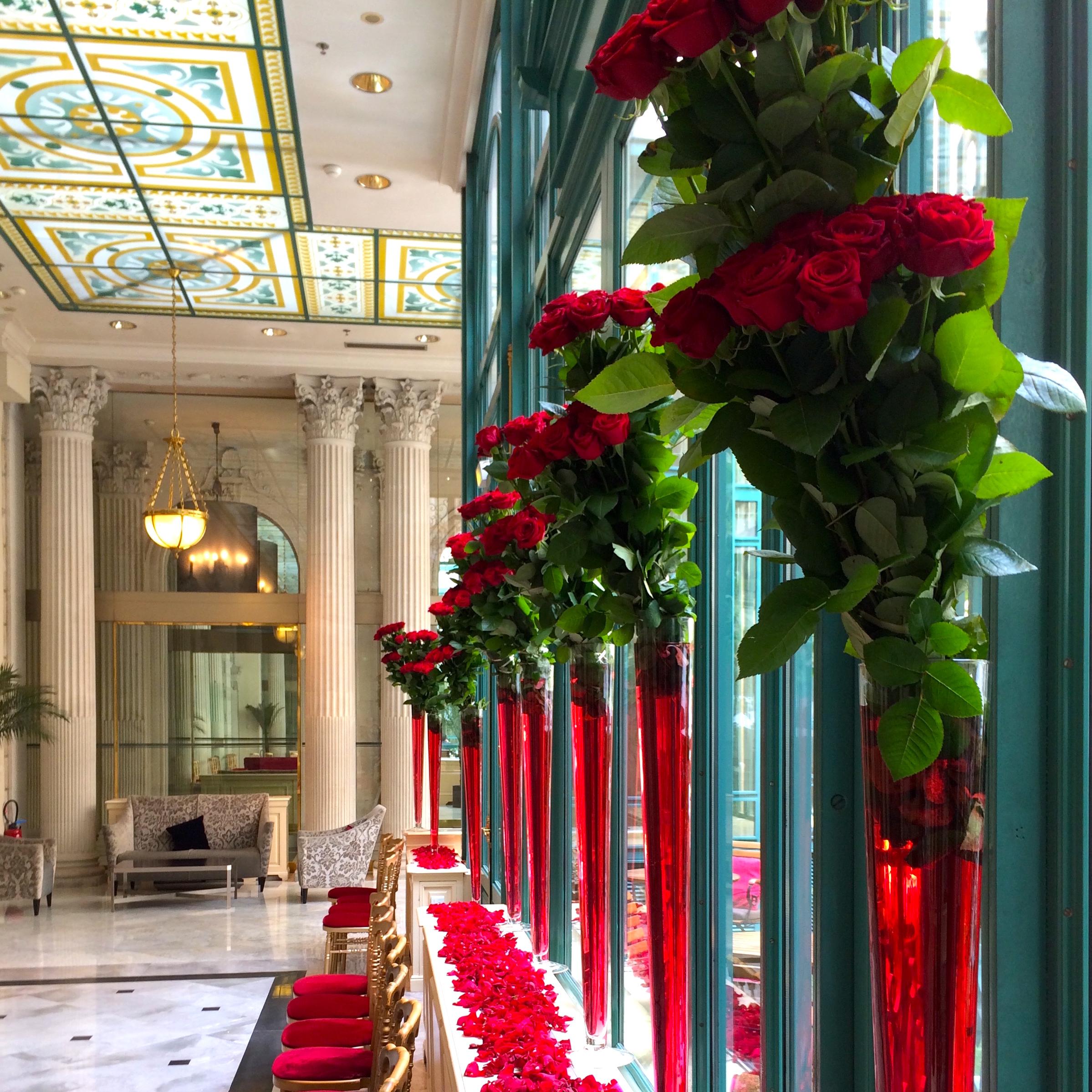 Christian Morel Fleuriste Paris - Evenement Roses rouges