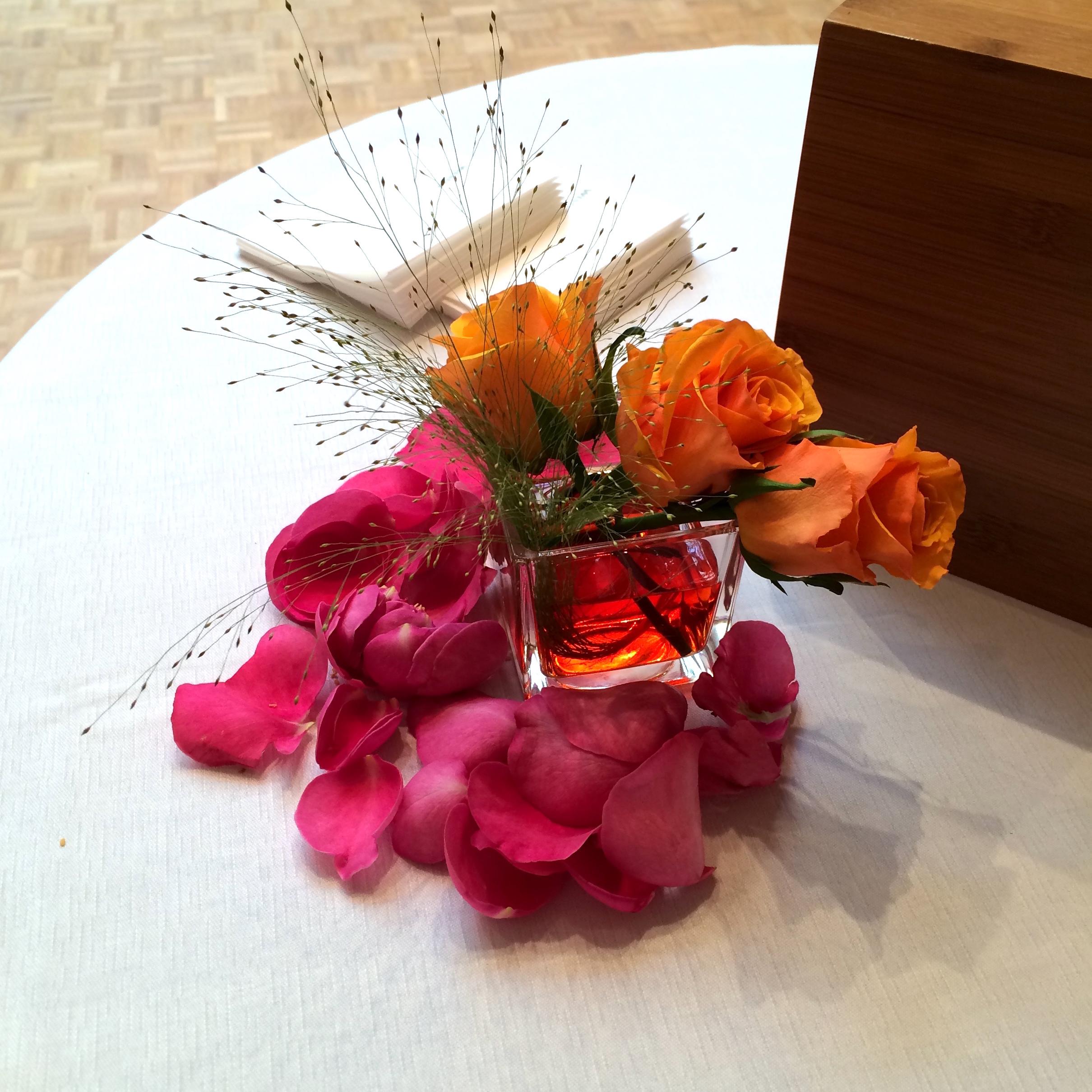 Christian Morel Fleuriste Paris - Evenement centre de table rose