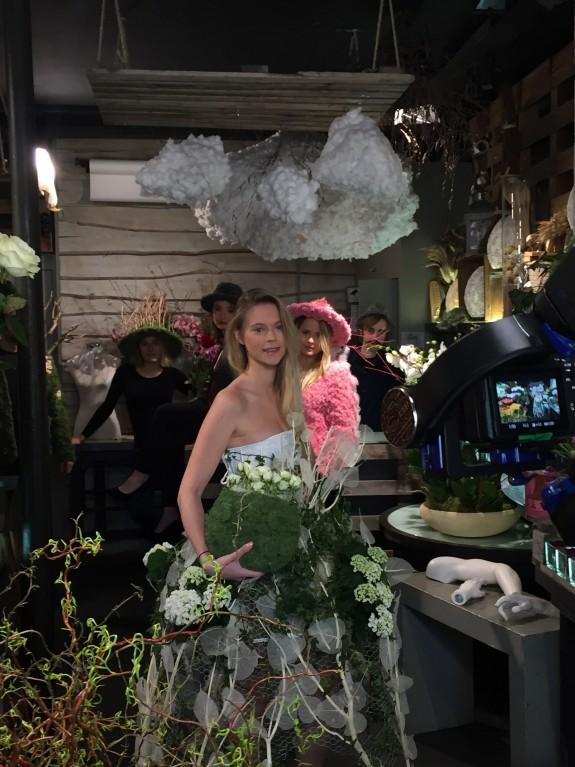 Robe de mariée Vegetal dressing fleuriste paris 11eme