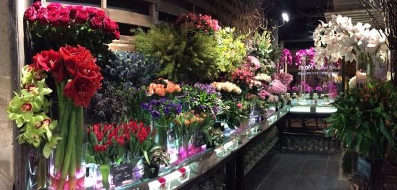 Sélection fleurs coupées boutique Christian Morel Fleuriste Paris