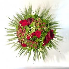 Bouquet « Rouge plaisir » par Christian Morel, fleuriste à Paris