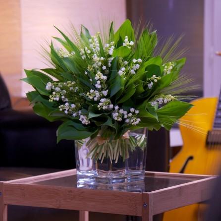 Bouquet 1er Mai « Que du bonheur » par Christian Morel, fleuriste à Paris