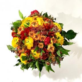 Bouquet de saison « Éclat de Soleil » par Christian Morel Fleuriste à Paris