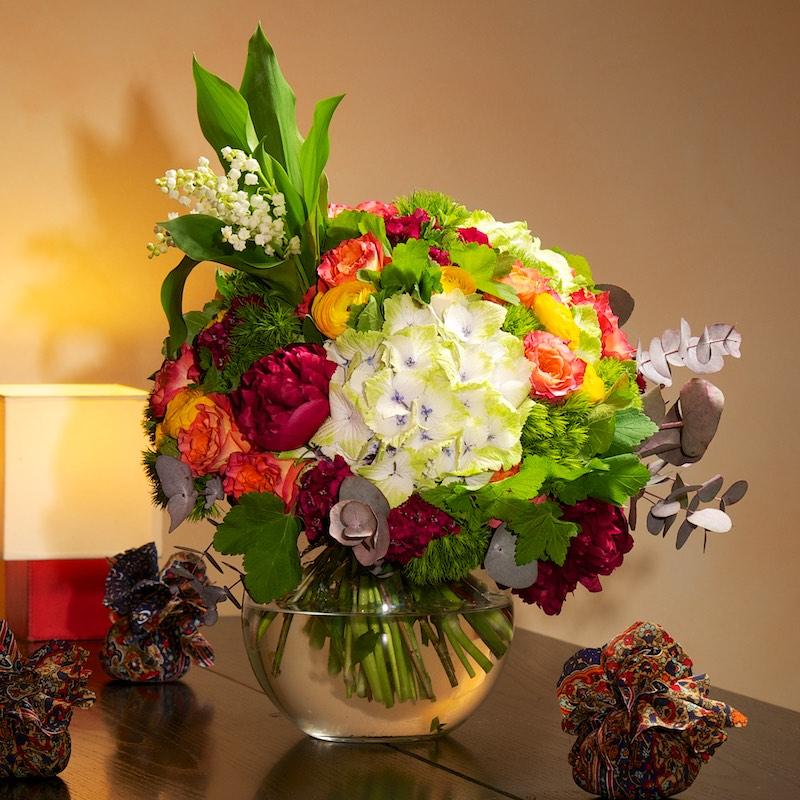 Bouquet 1er Mai « Un soleil de bonheur » par Christian Morel, fleuriste à Paris