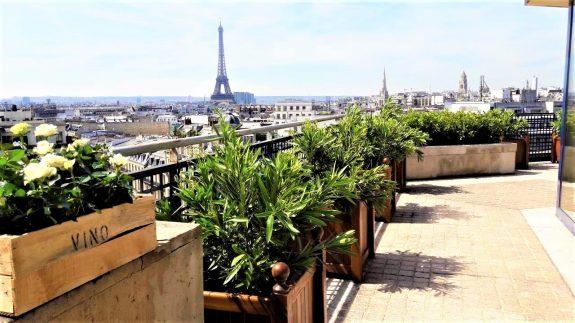fleuriste paris fleuriste parisien terrasse roof top champs élysées jardin agencement tour eiffel fleurs et plantes paris