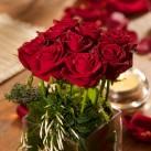 valentine's cube roses - détail